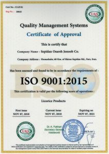 Licorice Iso 9001