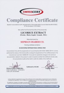 Licorice CE IranLicorice Licorice Certificate
